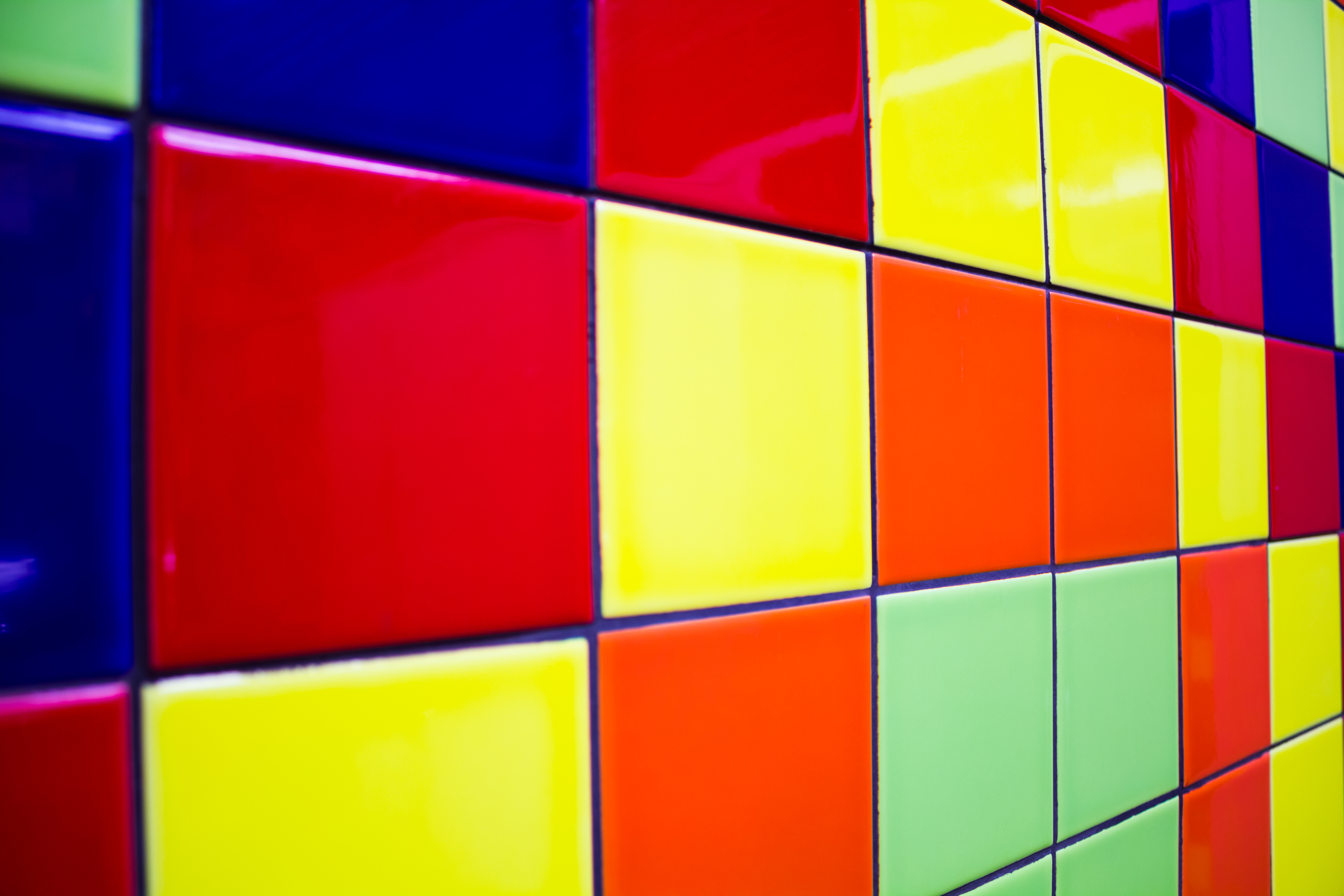 Very nice new multi-colored tiles with a lot of colors